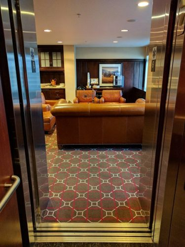 Sheraton Herndon Dulles Airport Club Lounge Elevator