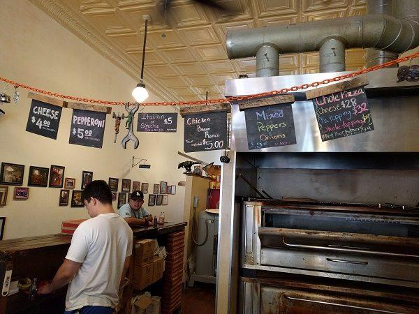 Benny Marconi's Pizza Menu