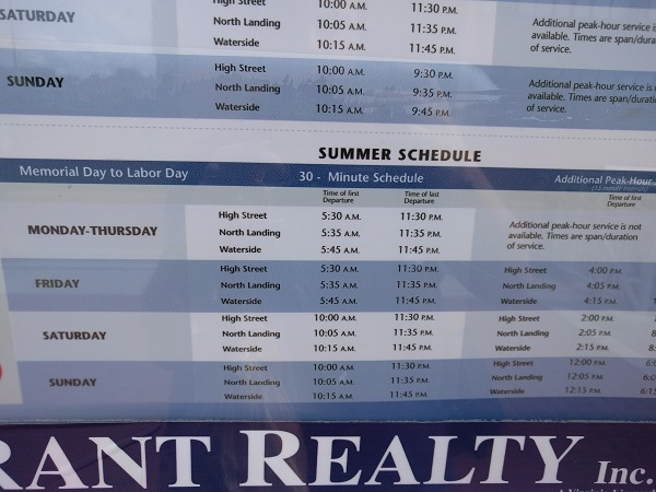 Elizabeth River Ferry summer schedule