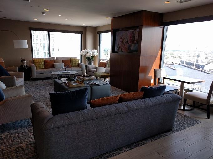 Hilton Norfolk Empyrean Lounge couches