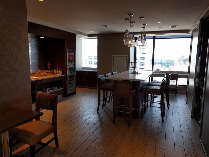 Hilton Norfolk Empyrean Lounge dining table