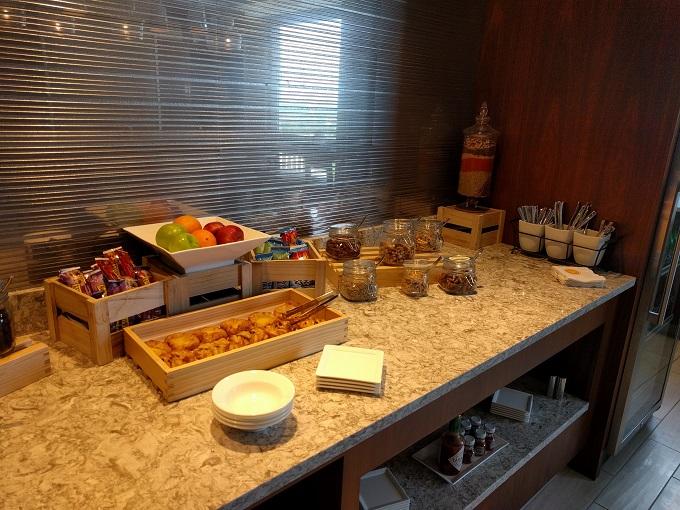 Hilton Norfolk Empyrean Lounge food