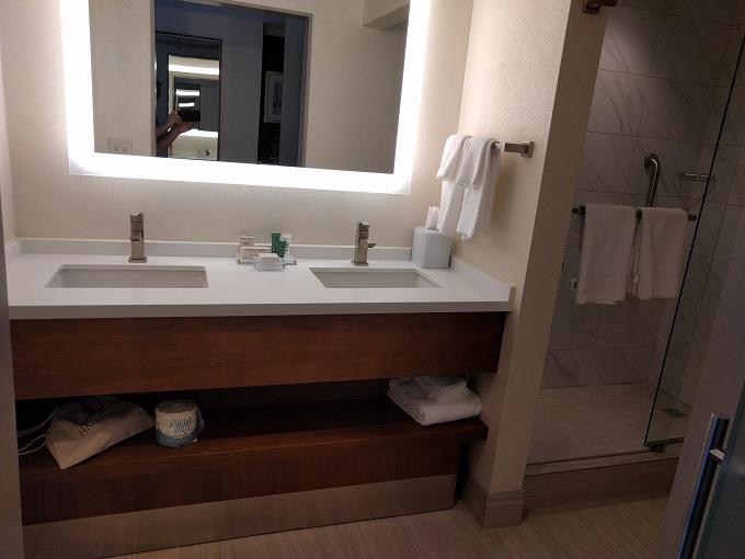 Hilton Norfolk King bathroom