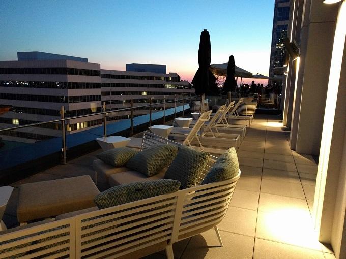 Hilton Norfolk deck seating