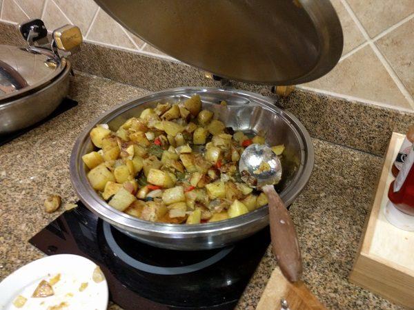 Sheraton Roanoke breakfast - potatoes