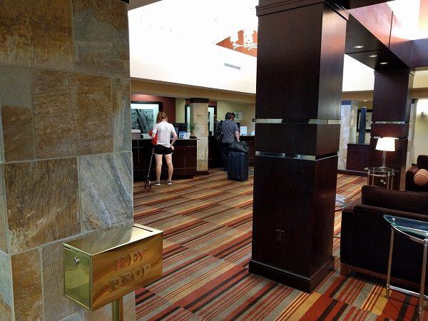 Sheraton Roanoke lobby