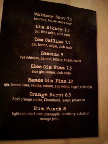 Still Portsmouth VA Drinks Menu Cocktails 2