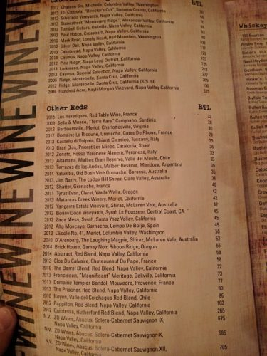 Still Portsmouth VA Drinks Menu Wines 3