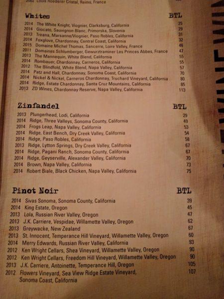 Still Portsmouth VA drinks menu - wines 2