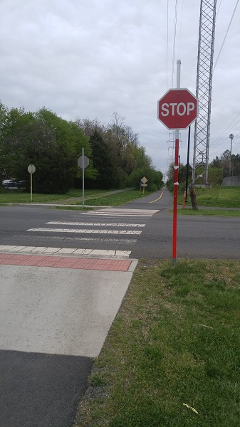 Washington and Old Dominion Trail Street Crossings