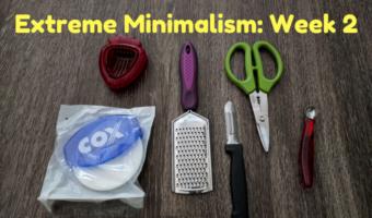 Extreme Minimalism: Week 2 – More Kitchen Stuff Edition