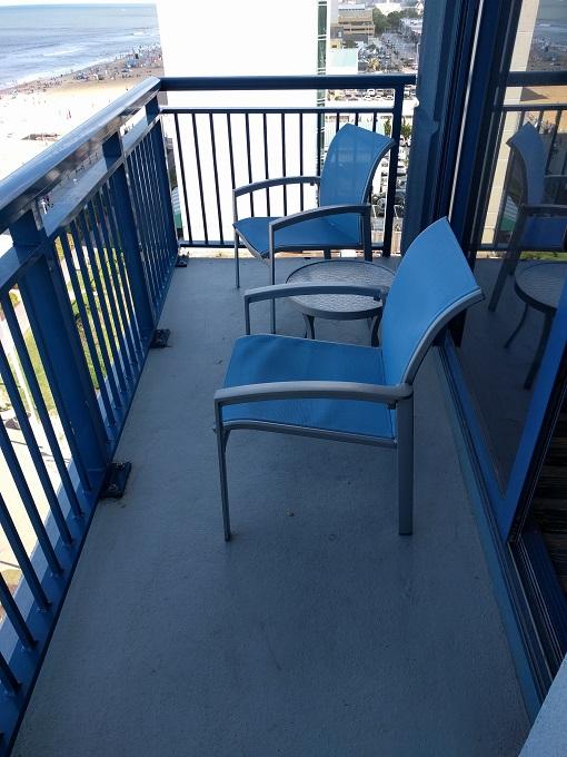 Hyatt House Virginia Beach balcony seating