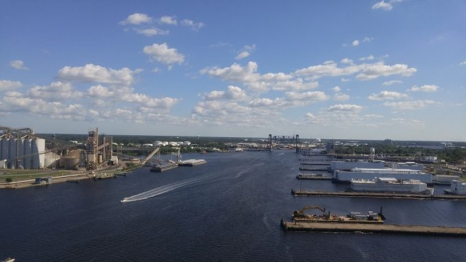 11 - The South Norfolk Jordan Bridge gives you some great views out over the Elizabeth River