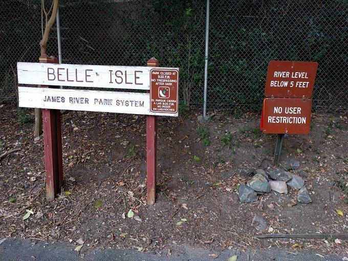 3 - Belle Isle water warning