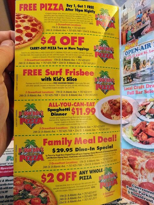 Virginia Beach Entertainment Coupon Book
