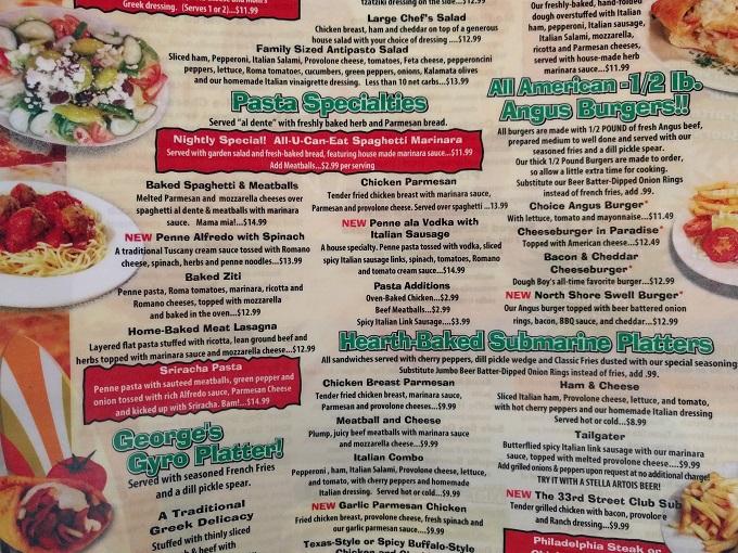 Dough Boys Virginia Beach menu - pasta, burgers & subs