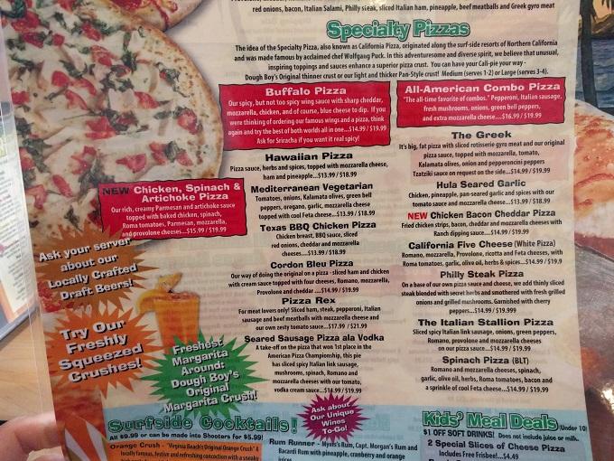 Dough Boys Pizza Va Beach
