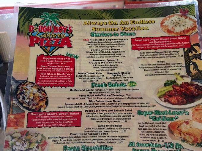 Dough Boys Virginia Beach menu - starters & salads