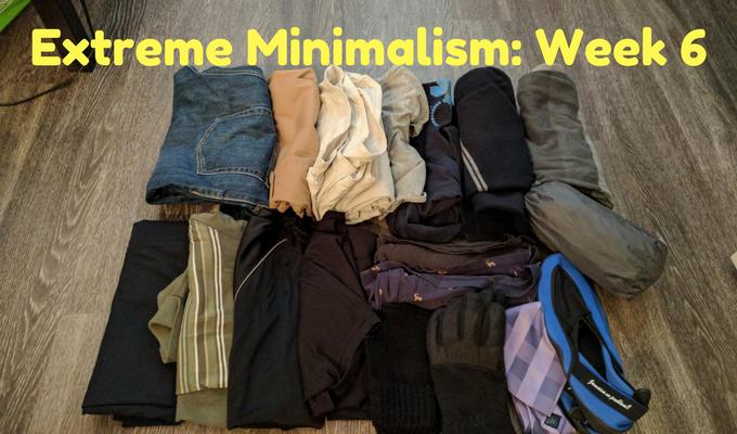 Extreme Minimalism Week 6