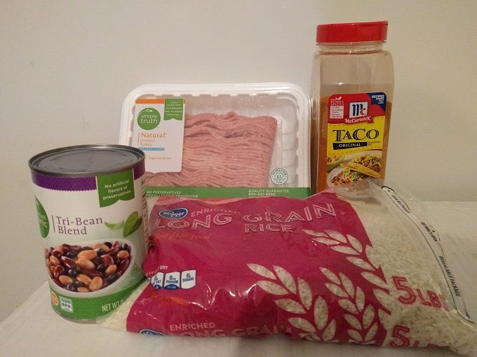 Instant Pot burrito bowl ingredients