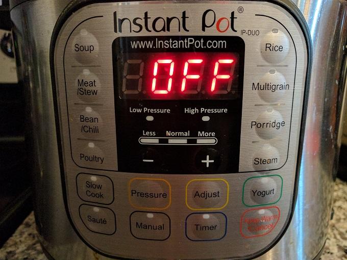 Instant Pot preset buttons