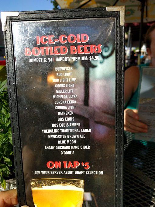 LunaSea Virginia Beach beer menu