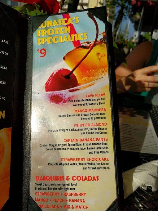 LunaSea Virginia Beach frozen beverages
