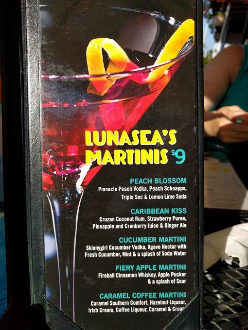 LunaSea Virginia Beach martinis