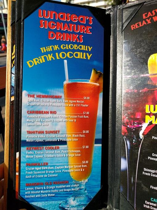 LunaSea Virginia Beach signature drinks
