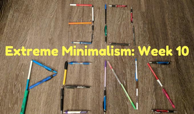 Extreme Minimalism Week 10