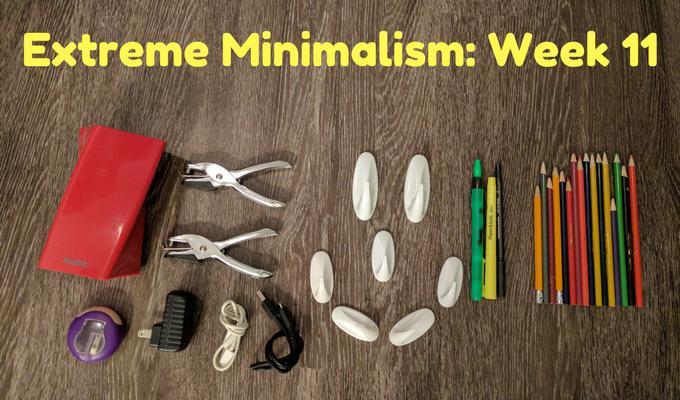 Extreme Minimalism Week 11