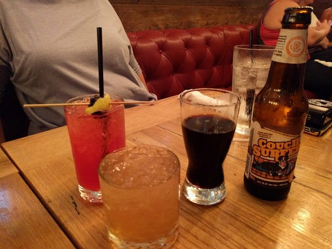 Kentucky Mountain Lemonade, Whiskey Smash and Otter Creek Couch Surfer