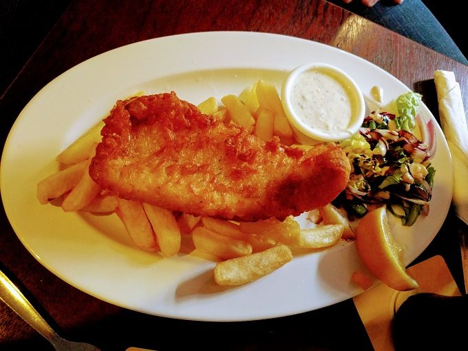 Fish And Chips at Murphy's Law, Athlone