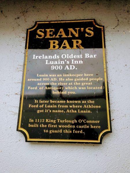 Sean's Bar, Athlone