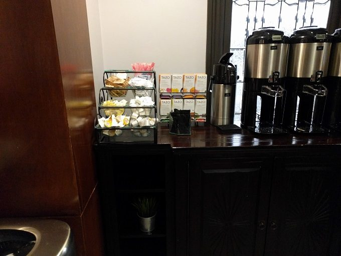 Staybridge Suites Herndon Dulles breakfast - tea and coffee