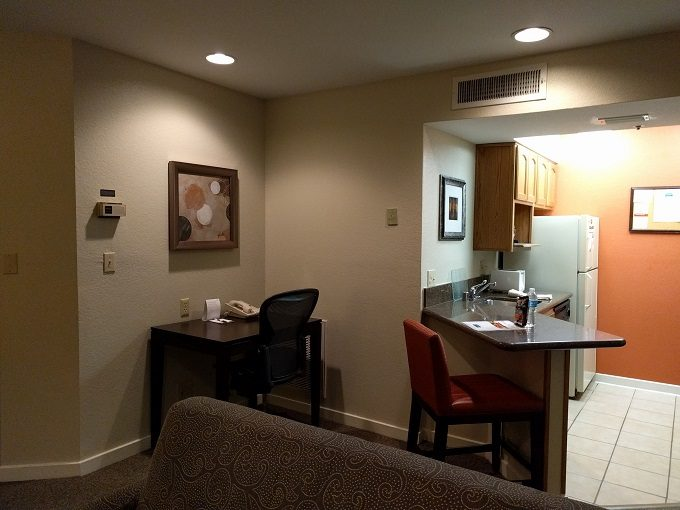 Staybridge Suites Herndon Dulles kitchen and desk