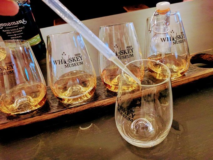 Irish Whiskey Museum, Dublin - creating my own special blend