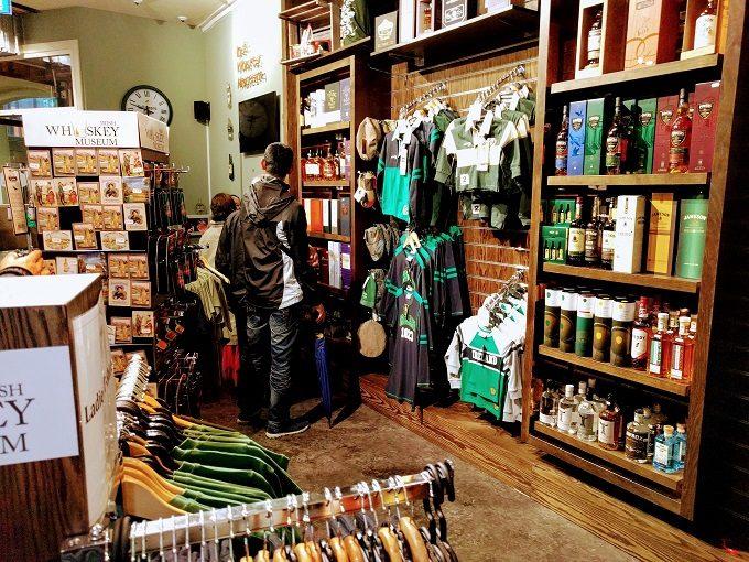 Irish Whiskey Museum, Dublin gift shop