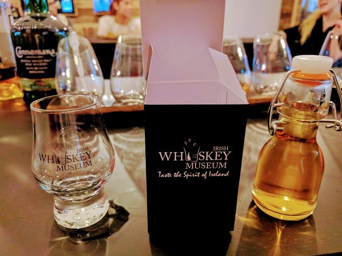 Irish Whiskey Museum, Dublin - my own special blend and prize