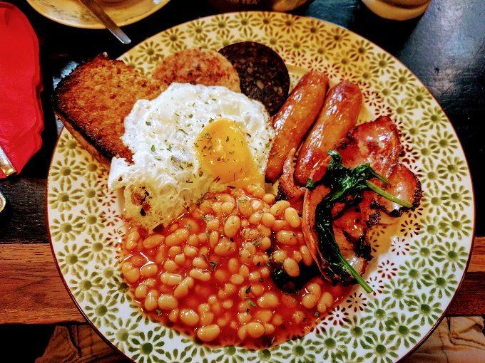 Irish breakfast at Stage Door Cafe
