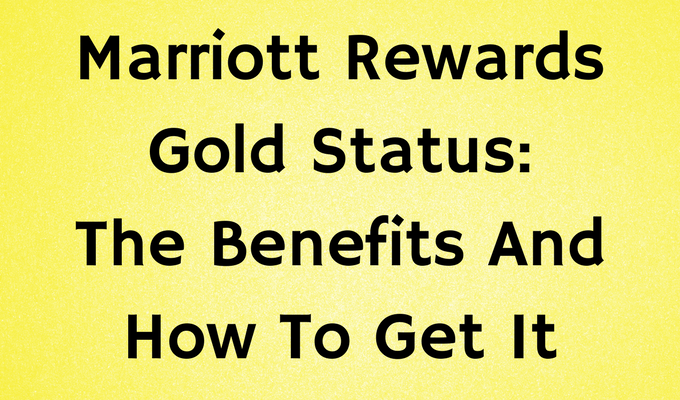 Marriott Rewards Gold Status