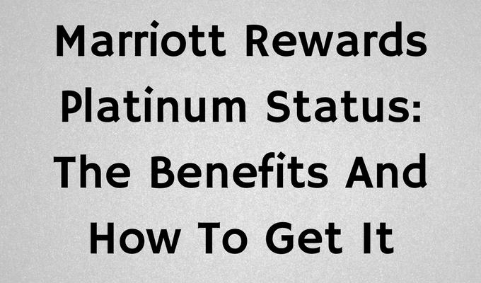 Marriott Rewards Platinum Status