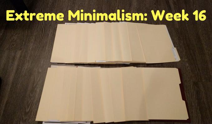 Extreme Minimalism Week 16