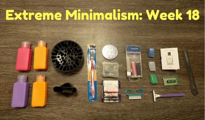 Extreme Minimalism: Week 18 – Toiletries & Frames Edition