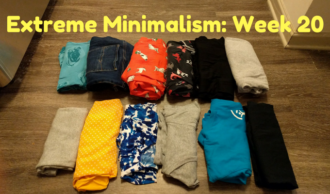 Extreme Minimalism Week 20