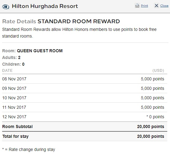 Hilton 5th night free