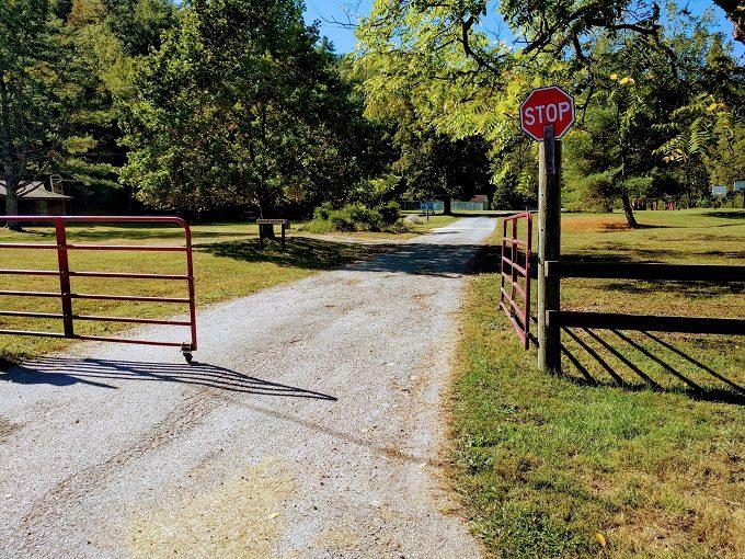 Stiles Falls, VA entrance