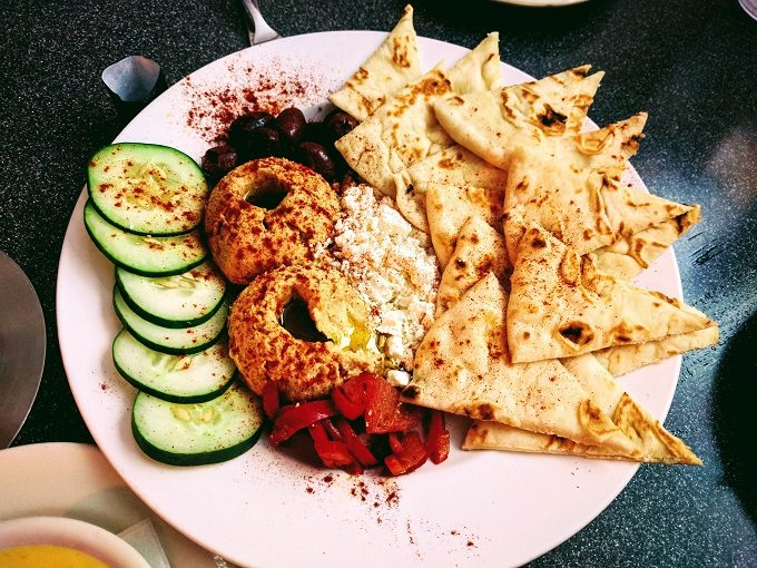 The Village Grill, Roanoke VA - hummus platter