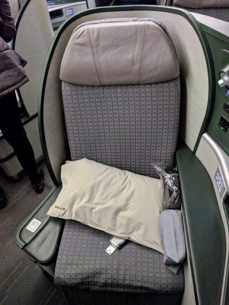 EVA Air TPE-JFK business class seat