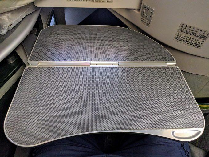 EVA Air TPE-JFK business class tray table